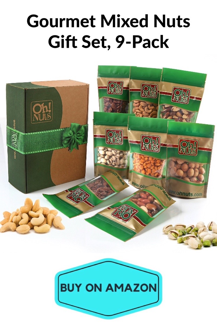 Gourmet Mixed Nuts Gift Set, 9 pack