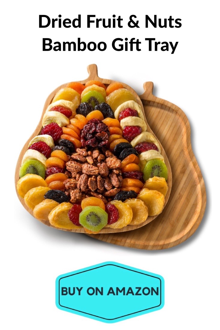 Dried Fruit & Nuts Bamboo Pear Gift Tray