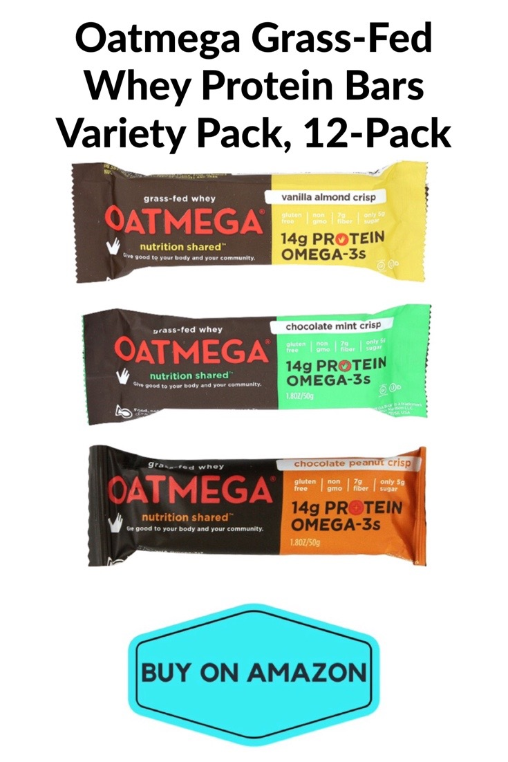 Oatmega Grass-Fed Whey Protein Bars Variety Pack, 12 pack