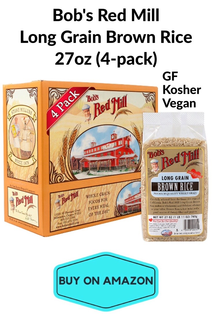 Bob's Red Mill Long Grain Brown Rice 27oz, 4 pack