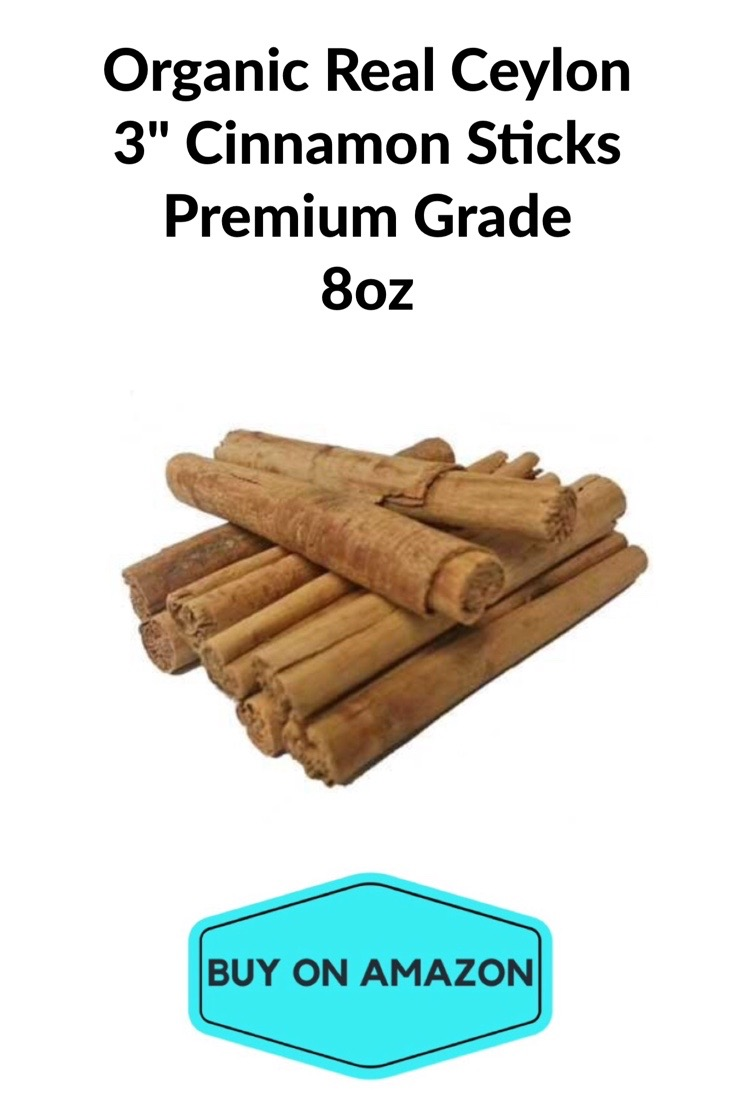 "Organic Real Ceylon 3"" Cinnamon Sticks, Premium Grade, 8 oz"