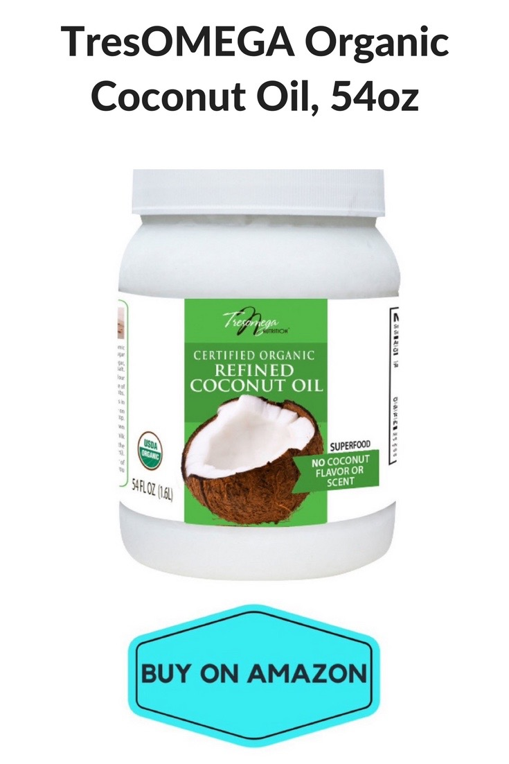 TresOMEGA Organic Coconut Oil, 54 oz