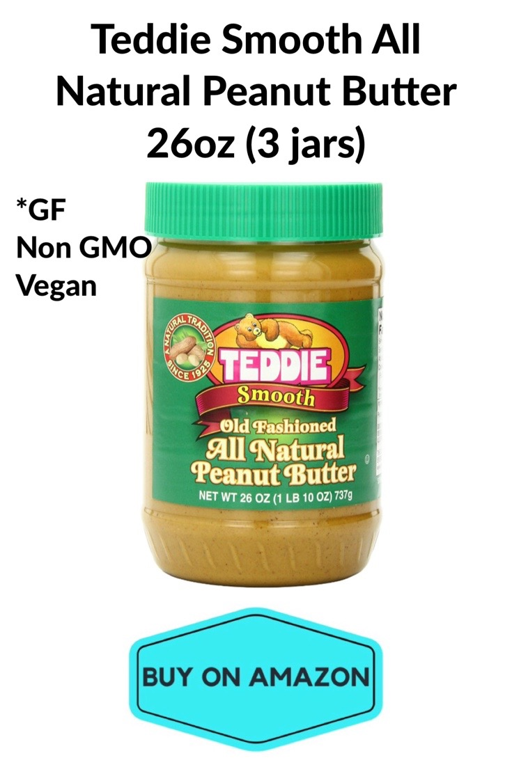 Teddie Smooth All Natural Peanut Butter, 3 Jars