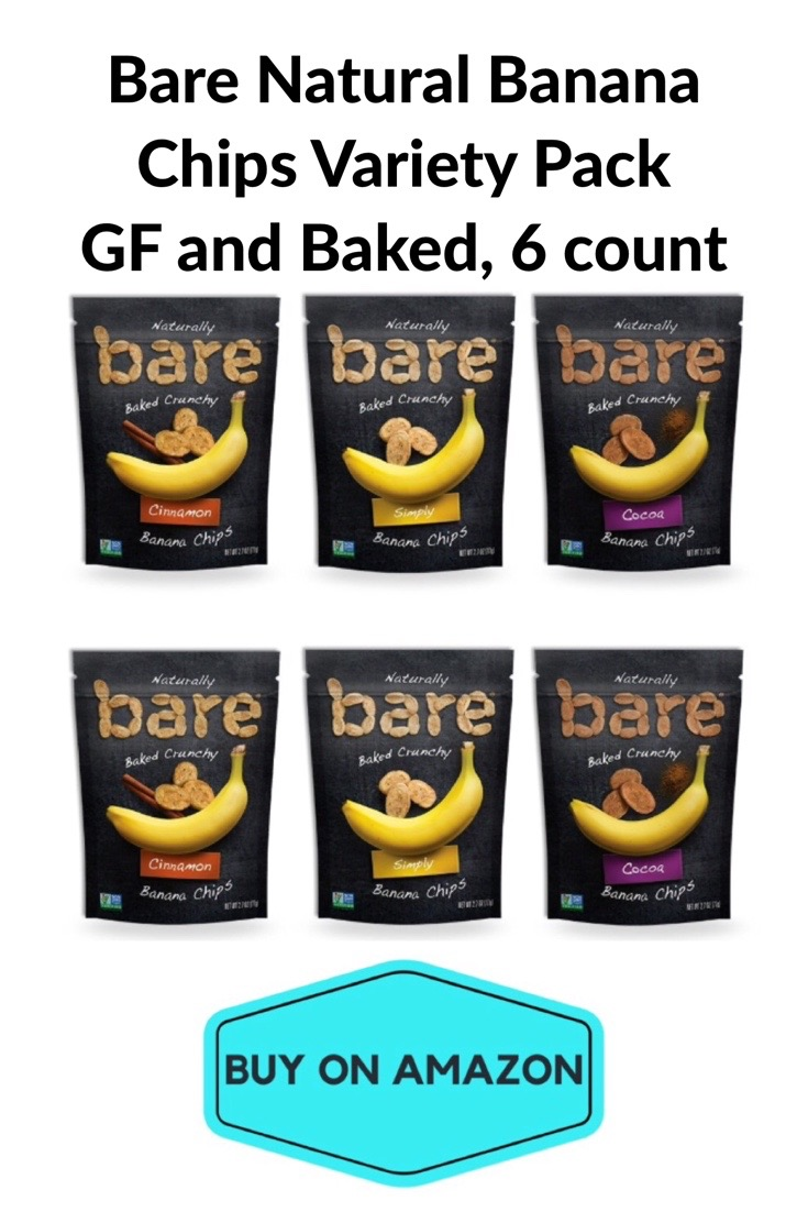Bare Natural Banana Chips, Variety 6 Pack