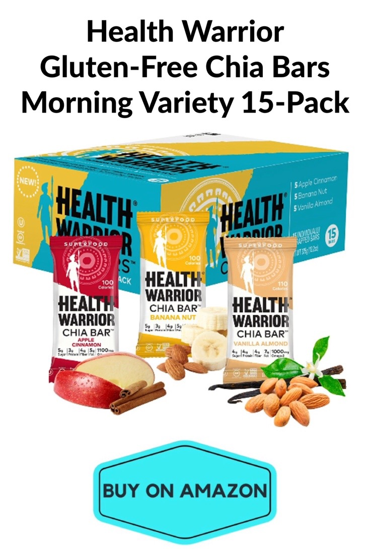 Health Warrior GF Chia Bars, Variety 15 Pack