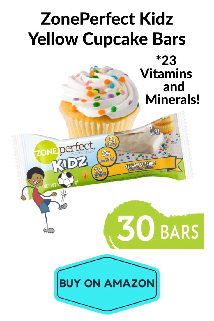 ZonePerfect Kidz Nutrition Bars, Yellow Cupcake, 30 pack