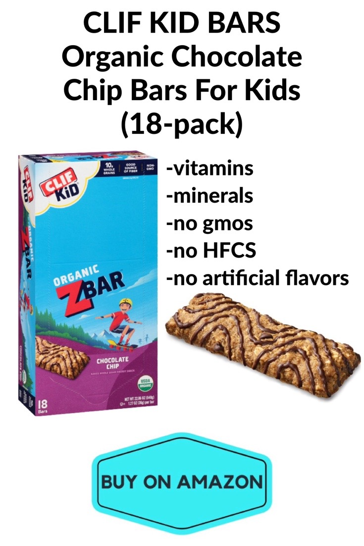 CLIF KID ZBARS Organic Chocolate Chip Bars For Kids, 18 pack