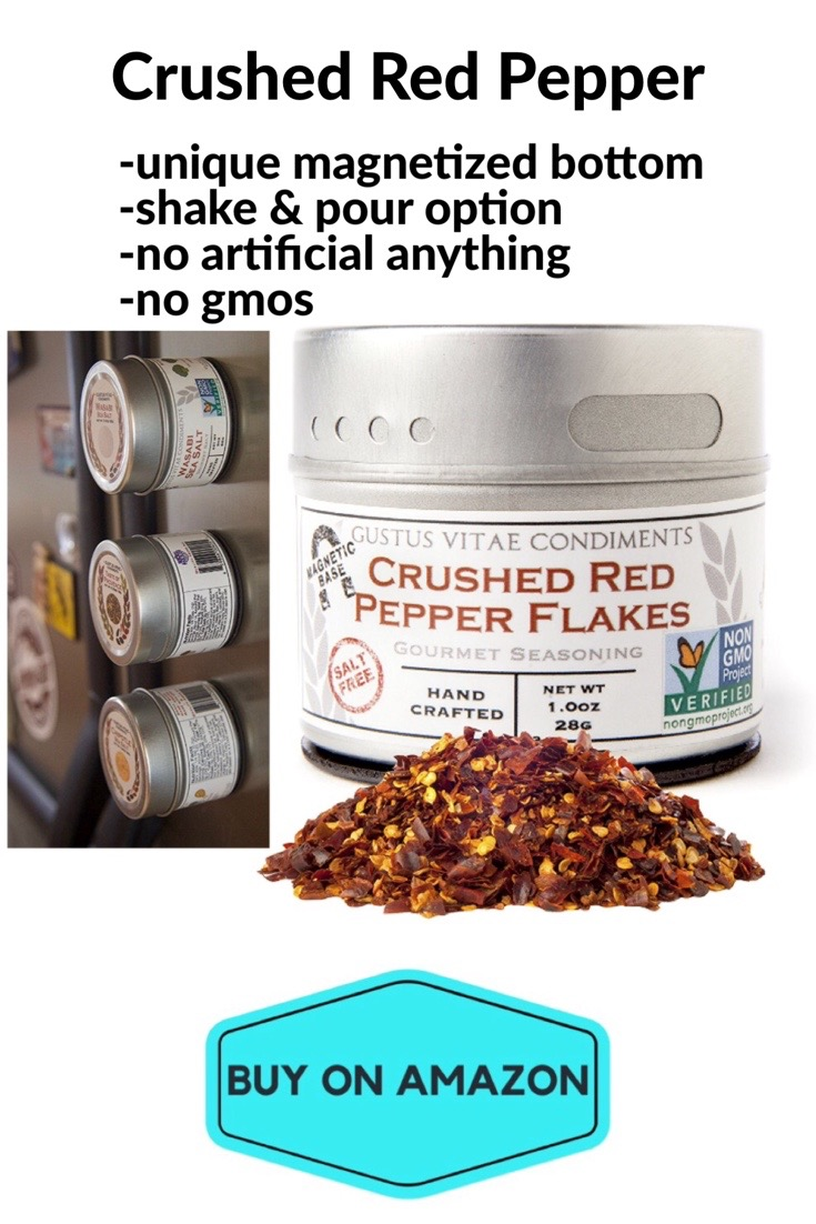 Crushed Red Pepper, Magnetic Tin Bottom