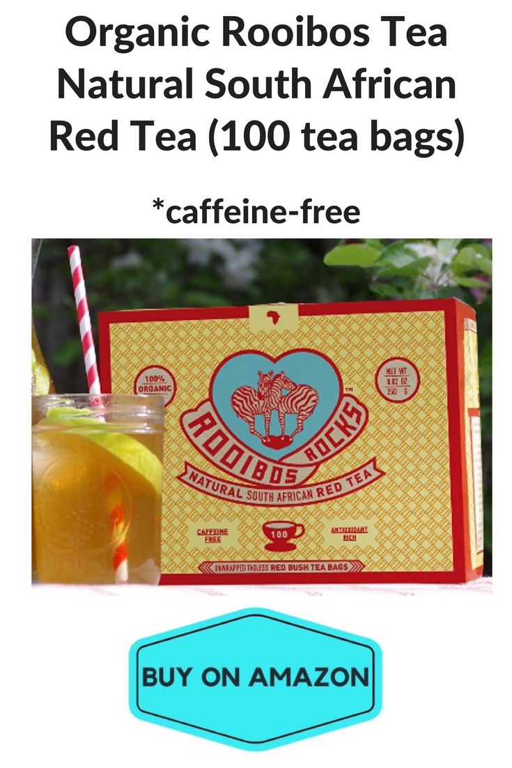 Organic Rooibos Tea Natural South African Red Tea, 100 Bags