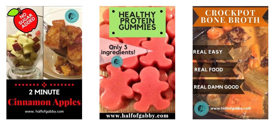 Half of Gabby Healthy Recipes