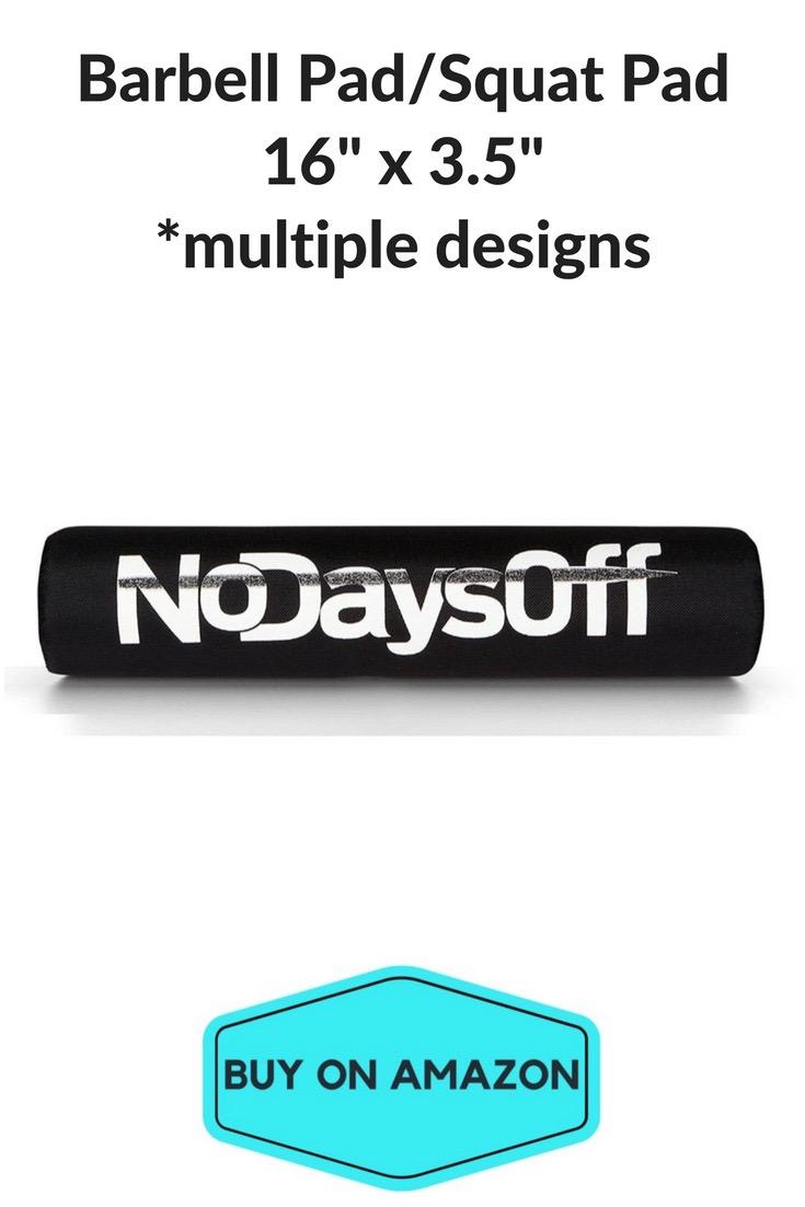'No Days Off' Barbell Pad/Squat Pad