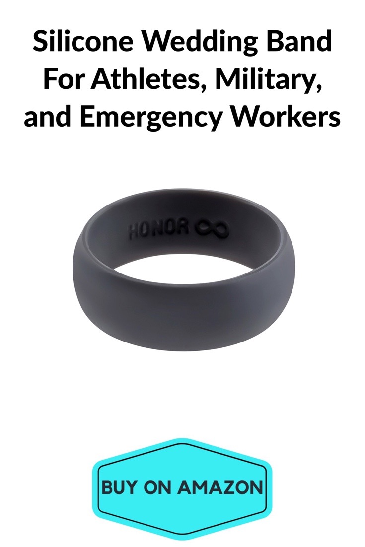 Silicone Wedding Band For Athletes and Military
