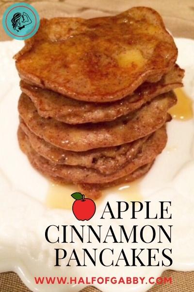 Apple Cinnamon Pancakes. Healthy and Gluten-free!