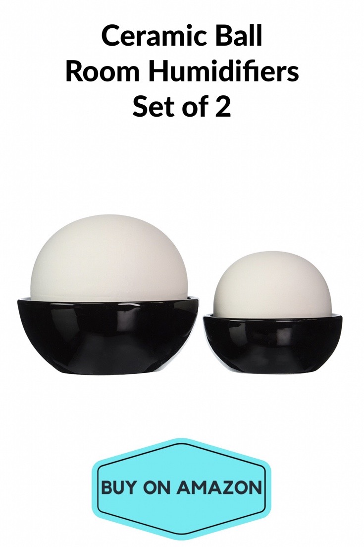 Ceramic Humidifiers, Set of 2. No electricity needed!