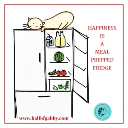 Happiness Is A Meal Prepped Fridge.