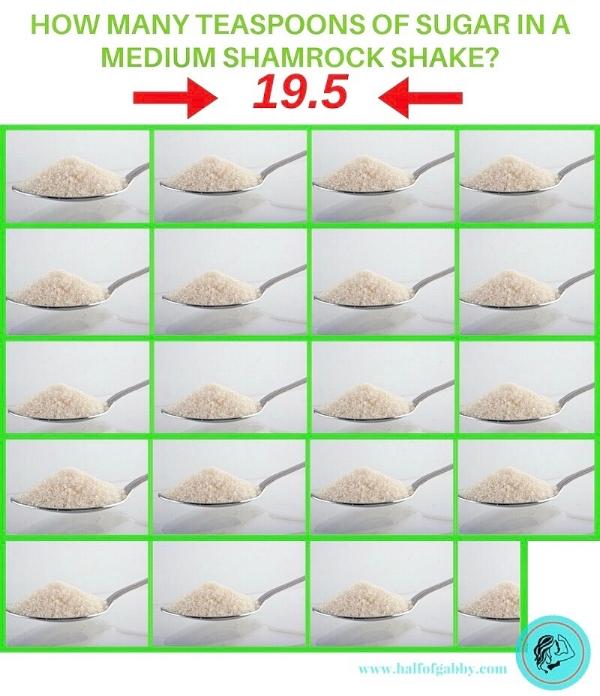 How Many Teaspoons of Sugar in a Shamrock Shake.