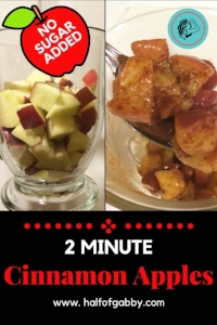 2 Minute Healthy Cinnamon Apples