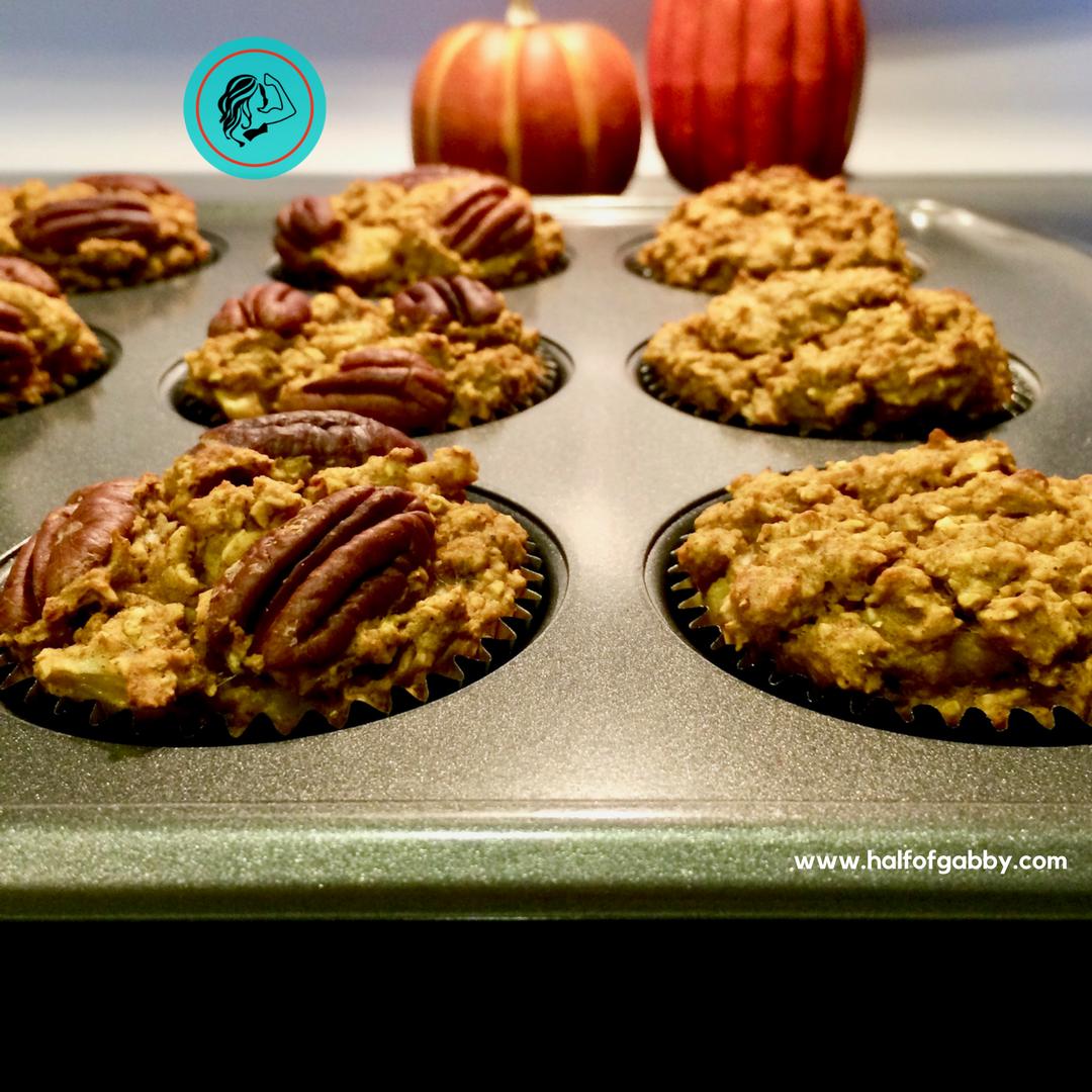 Healthy Pumpkin Muffins: Half of Gabby