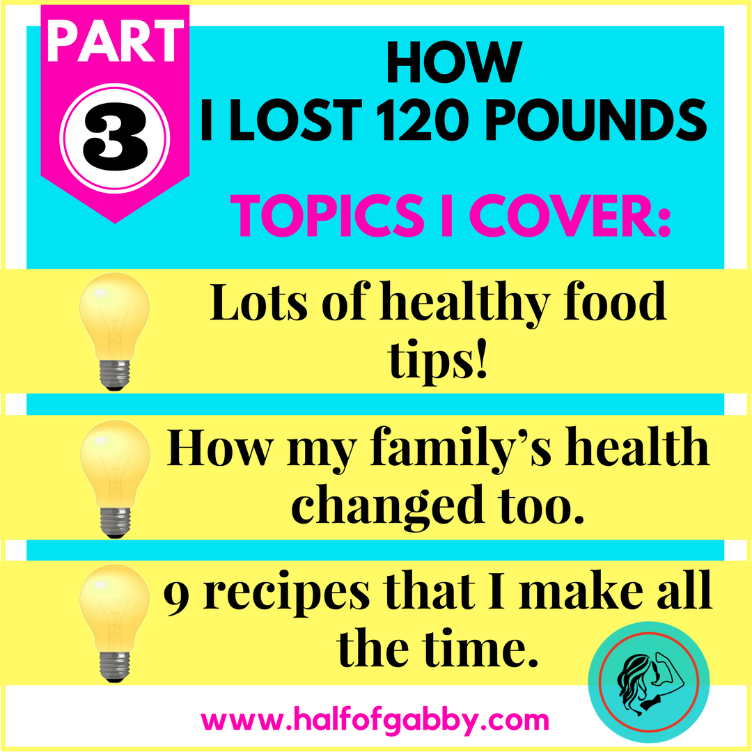 How I Lost 120 Pounds: PART 3