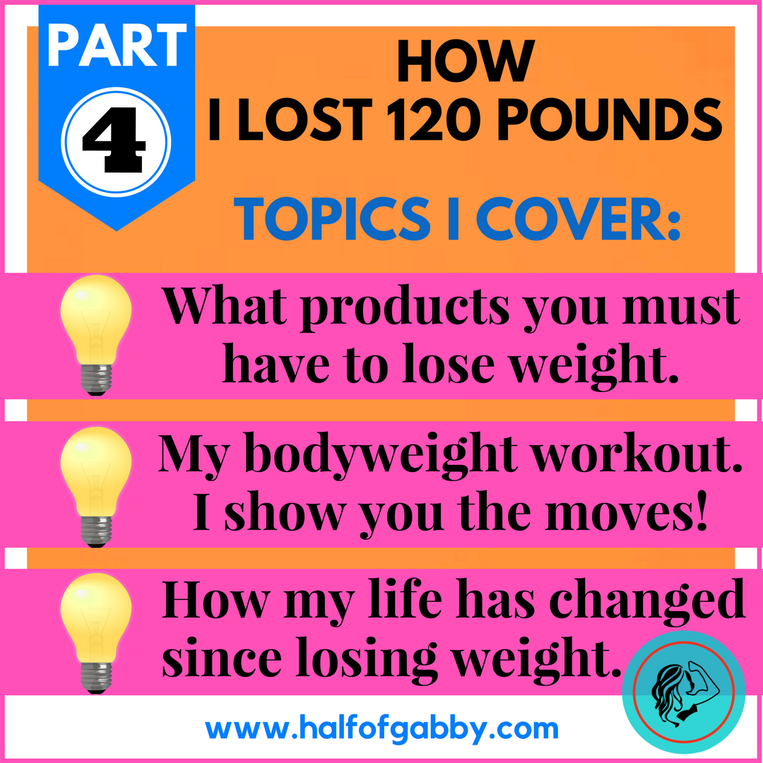 How I Lost 120 Pounds: PART 4