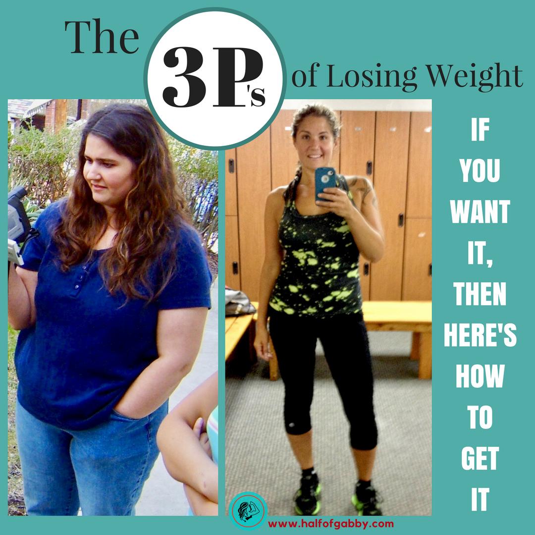 The 3 P's of Losing Weight: Half of Gabby, Weight Loss Guru