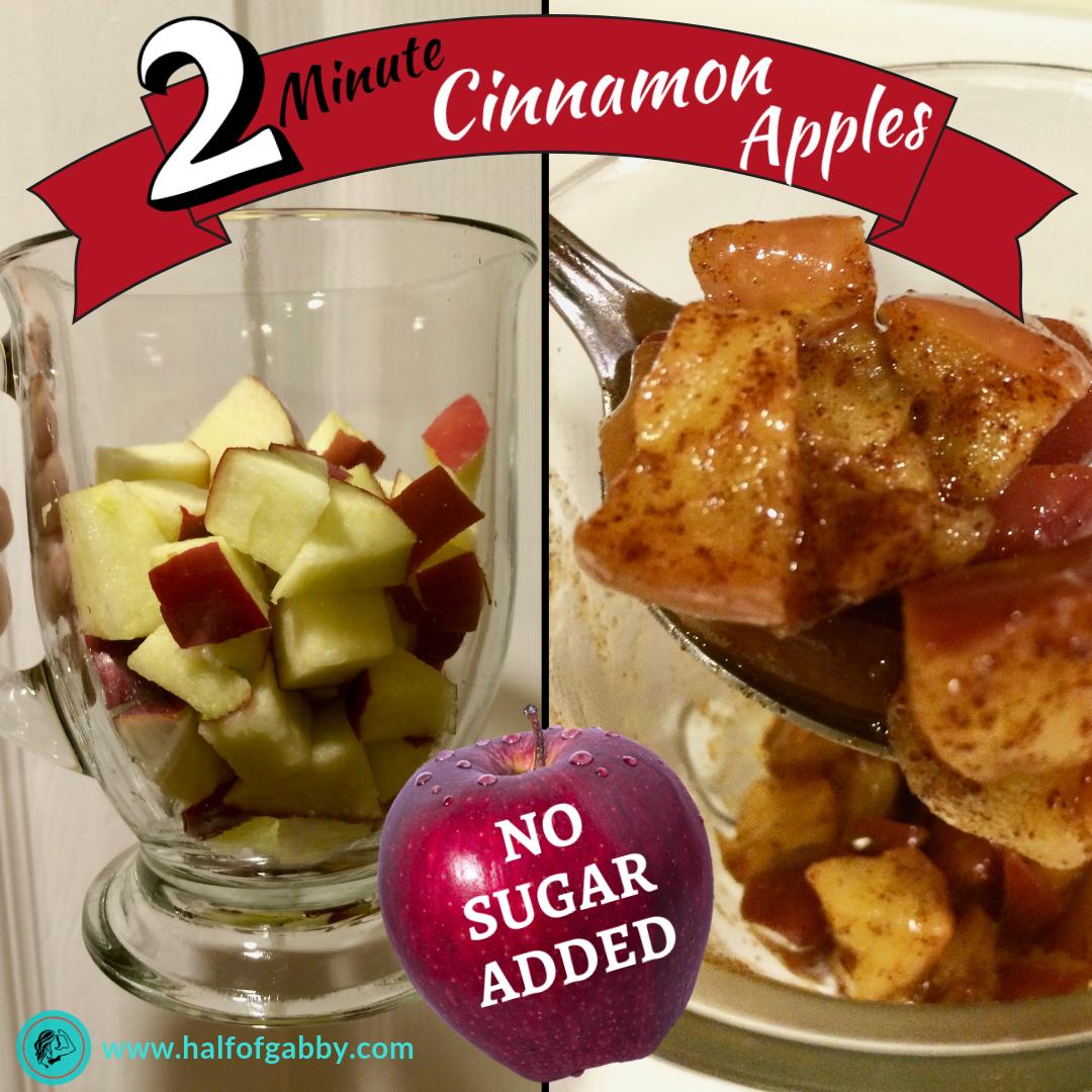 2 Minute Cinnamon Apples