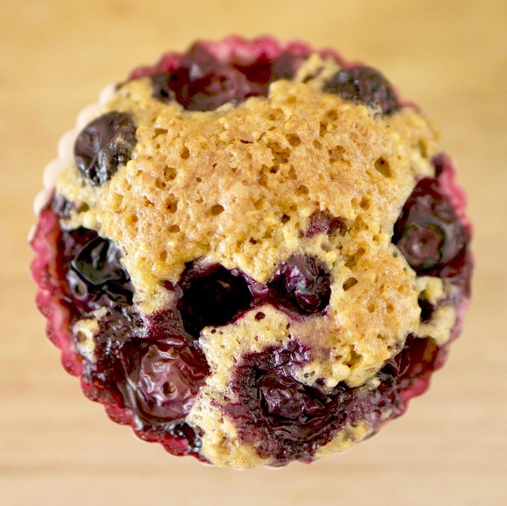 Healthy Blueberry Muffins: Half of Gabby