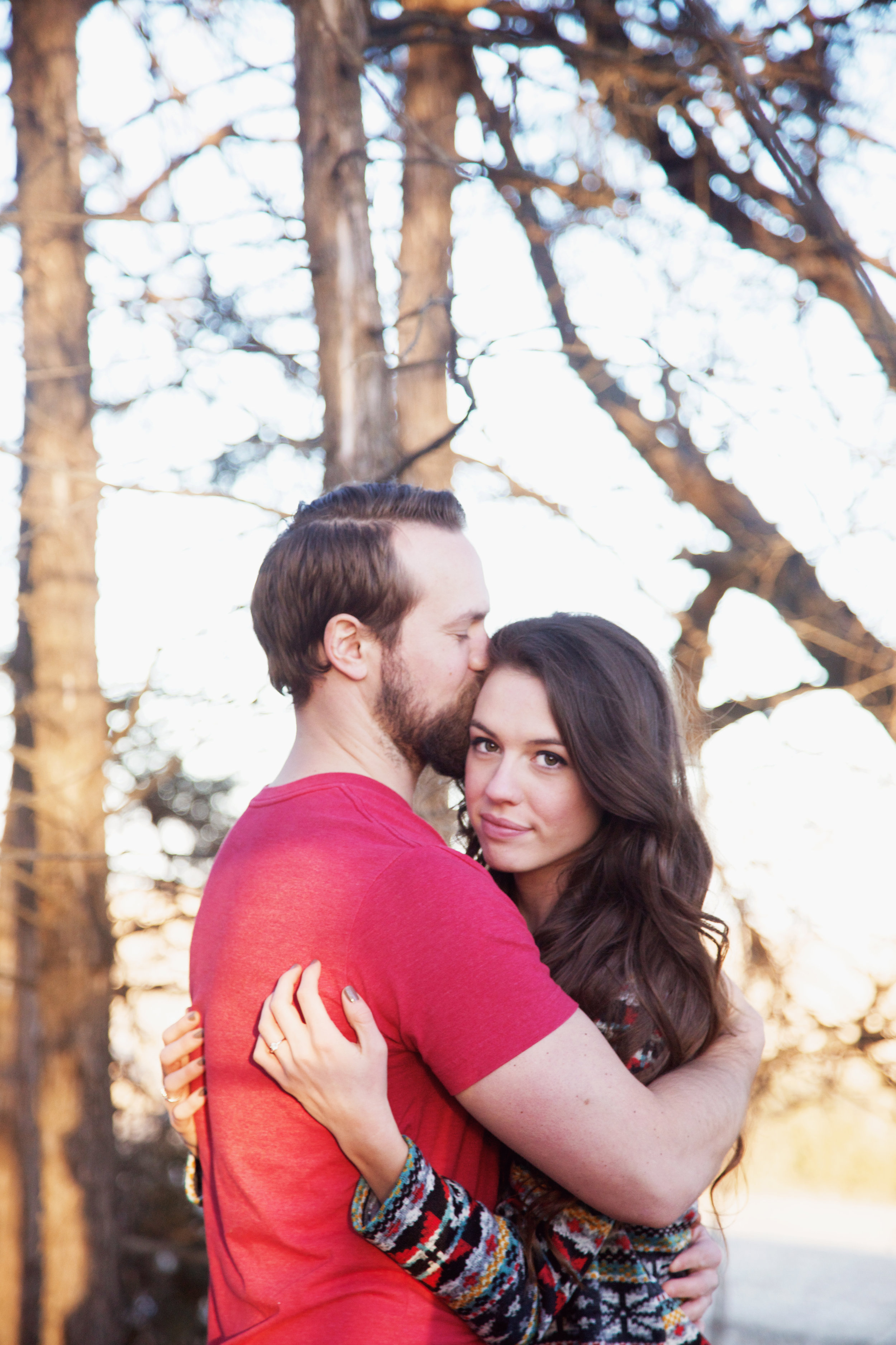 An engagement photo of Micah and me by  Monica Bee Photography
