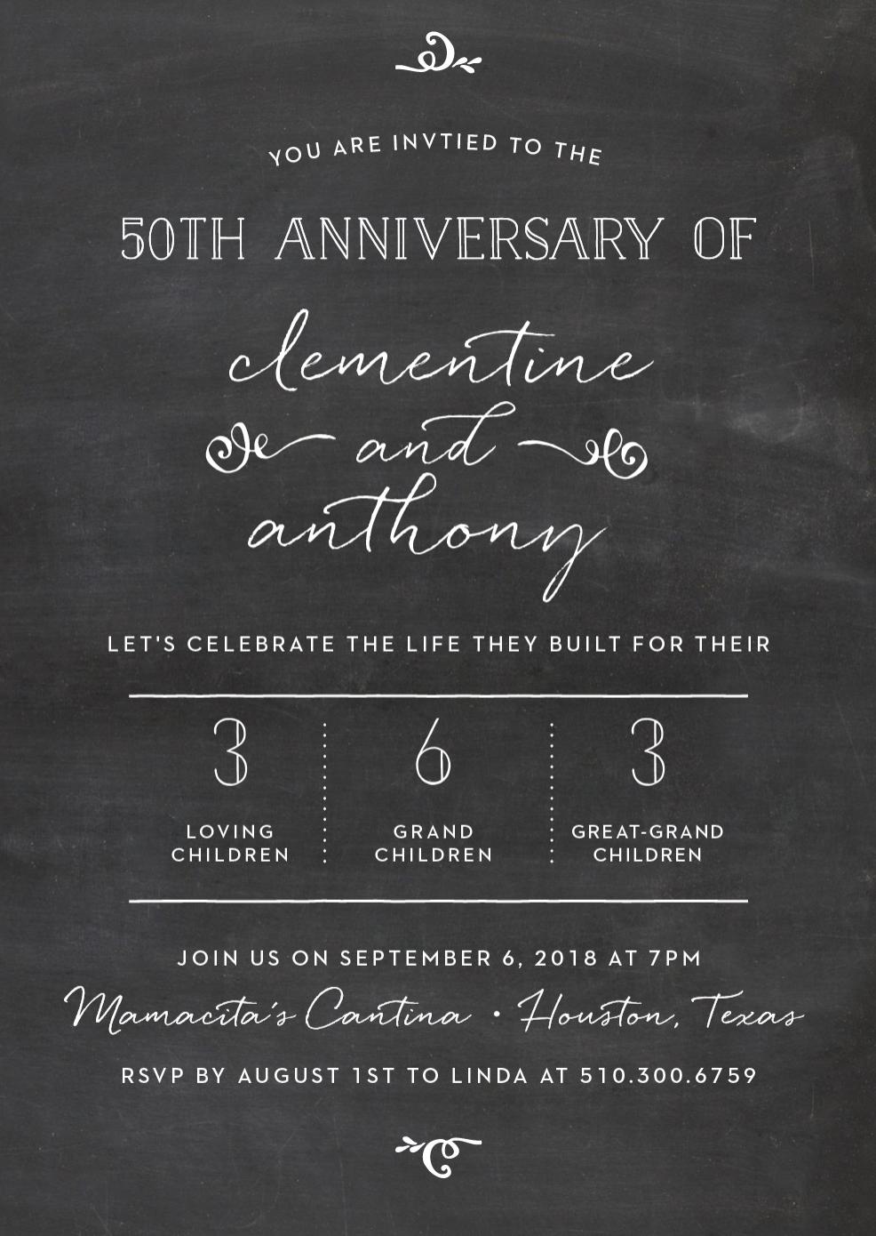 Anniversary Invitation by Basic Invite