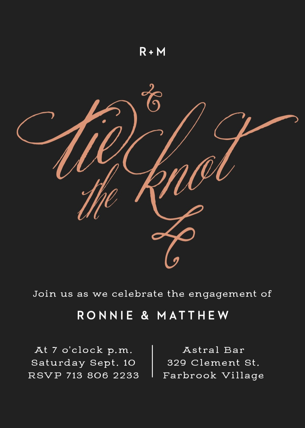 Engagement Party Foil Invitation from Basic Invite