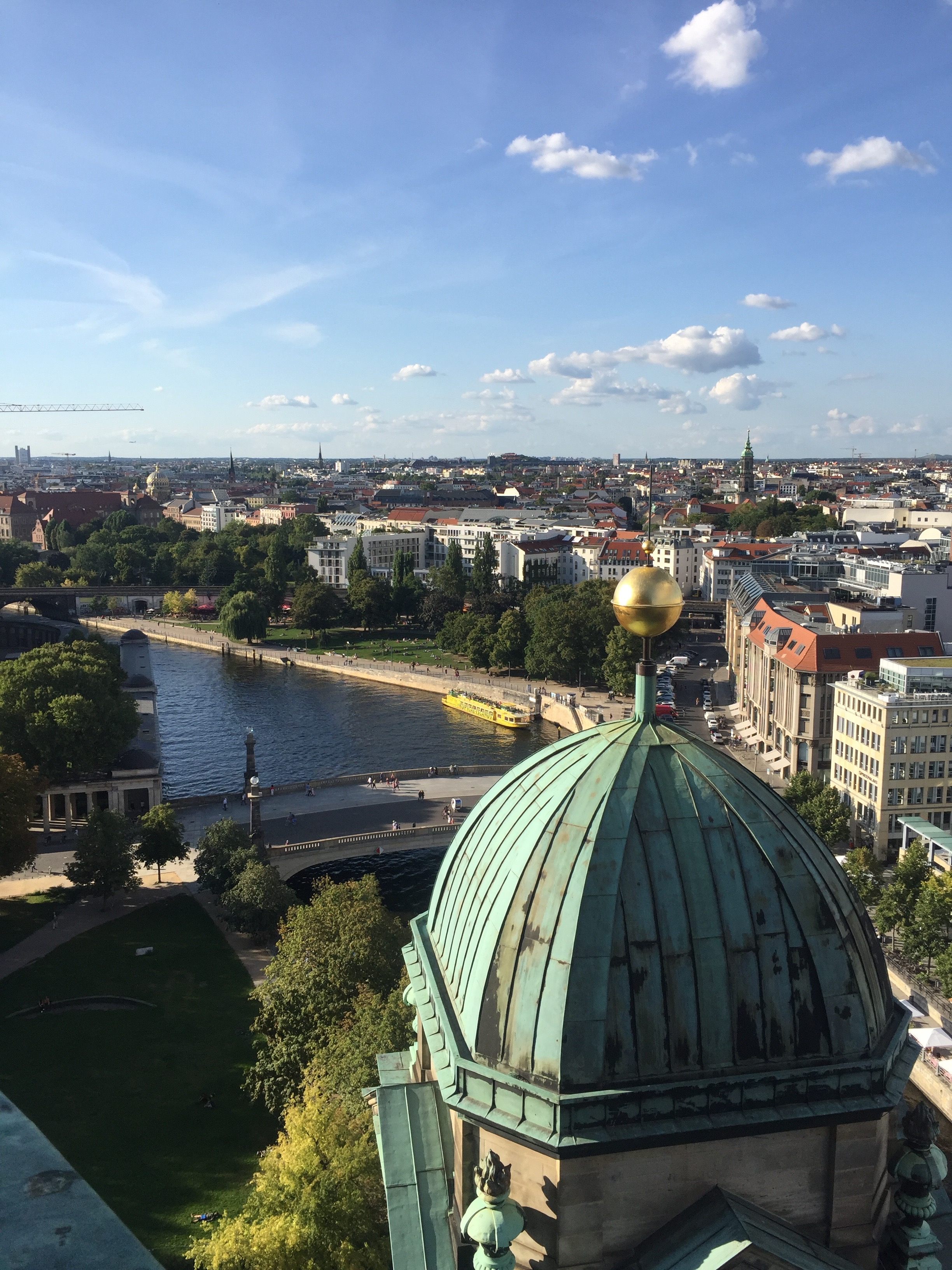View of Berlin from the top of the Berlin Cathedral