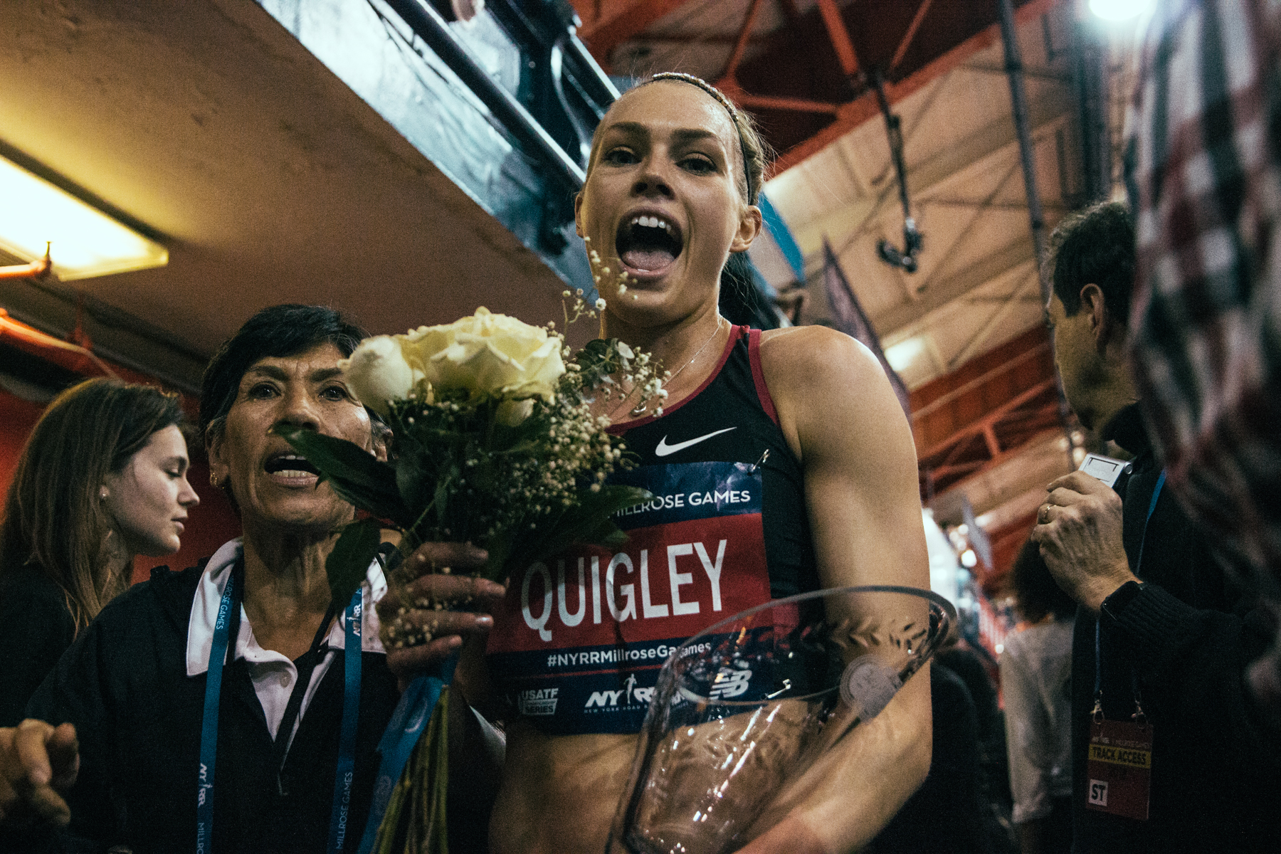 2018 Millrose Games Post-Race - Indoor Mile, 1st place