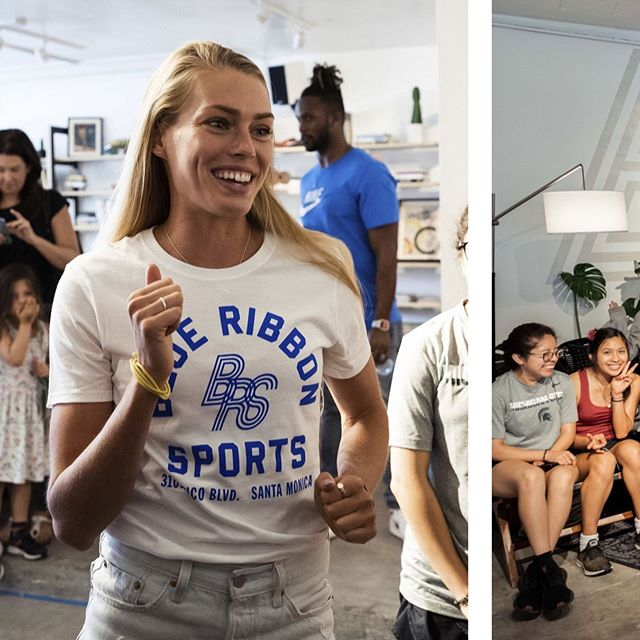 When I was in La earlier this week, @nikelosangeles gave me the opportunity to talk to a small group of high school girls who are prepping for XC this fall. When I looked at their faces, I immediately got transported back to 2008, when I was a freshman. So I tried to tell them what I needed to hear back then. Here were a couple of the big ones:  1. It's okay to not have it all figured out! I didn't know where I wanted to go to school until spring senior year. Heck- I considered not even going to college and pursuing a career as a model instead. I didn't know what I wanted to study once I got to school or what I wanted to do after. 2. It's okay to switch paths! If you're not exploring all of your options as you go, you could miss something incredible that you hadn't even considered before. I played soccer and danced until I found running, which changed my life forever. 3. Team success will always be more fun than individual success. No matter what level of sport you achieve. Always take the time build up your teammates and let them do the same for you. 4. Balance is key for longevity. At some parts of the year I would have said my first priority was running, and at other parts of the year I would have said academics or exams. At another time of the year I would have said family and friends. It's a tricky balance, but we are all more than just athletes, more than just students, we are complete humans.  Thank you to all the girls who came out to our gathering, it meant the world to me that you would take the time out of your summer vacation to show up and listen so intently to what I had to say. I hope you all end up loving this sport the way I do and letting it change your life the way it has changed mine. #sportchangeseverything