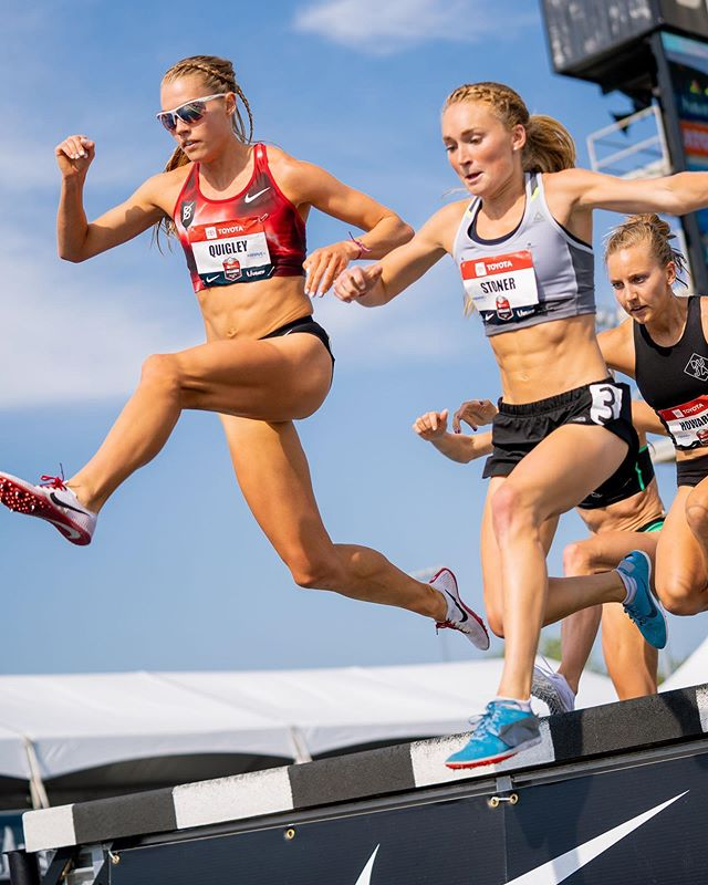 It's finals day baby!!!! 🐎 Last year I stood on the sidelines and cheered for my @bowermantc teammates while nursing a stress reaction. This year I feel even more grateful to be competing for my 4th USA team in the steeplechase! I'm going to braid up my hair and give it everything I've got out there at Drake Stadium tonight. If you're nearby, please come out and scream for me! If you want to watch (and scream) from afar, NBCSN will be showing the meet from 6-7pm central time, then NBC takes over from 7-8pm. Here's the BTC schedule (listed in local time): 6:09– Women's 3k steeple (that's me!!) 6:23– Men's 5k 6:42– Women's 5k 7:33– Men's 1500 📷: @cortneywhite_