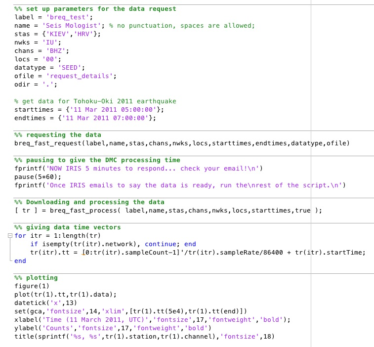 Example script for using the breq_fast request and processing tools.