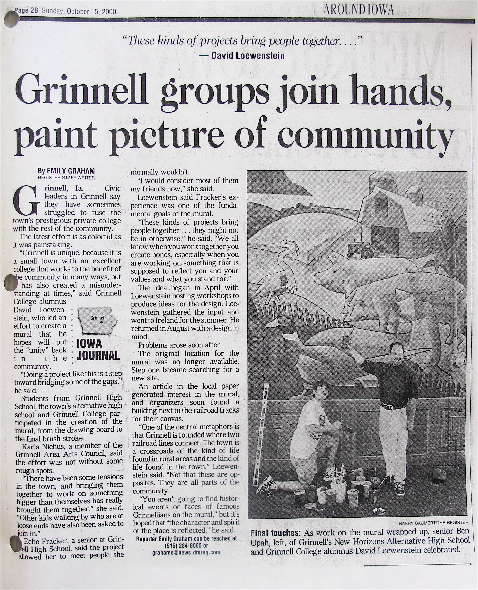 Article from the Grinnell Herald-Register
