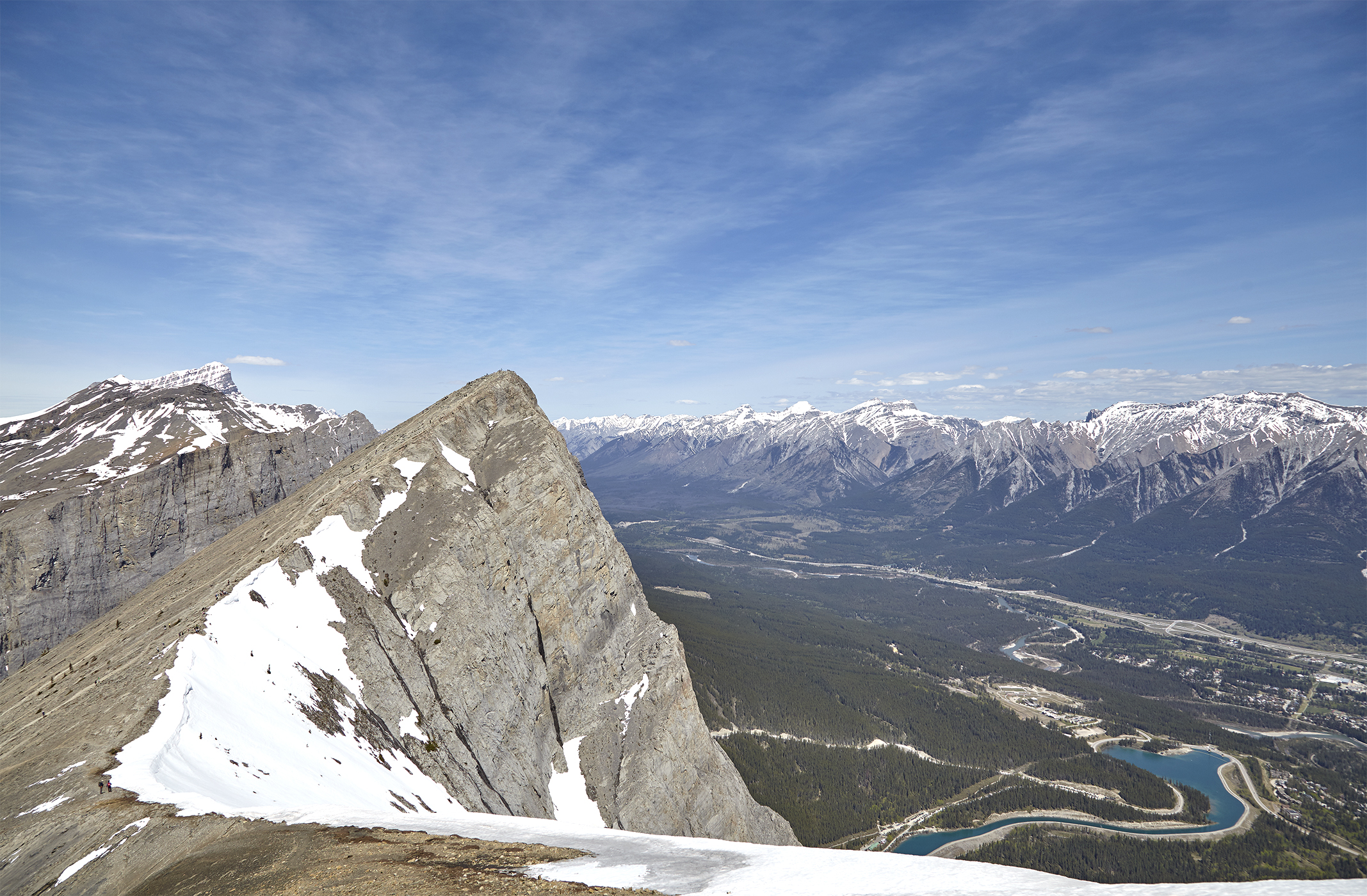 Ha Ling Peak and the Bow Valley from near the summit of Miner's Peak