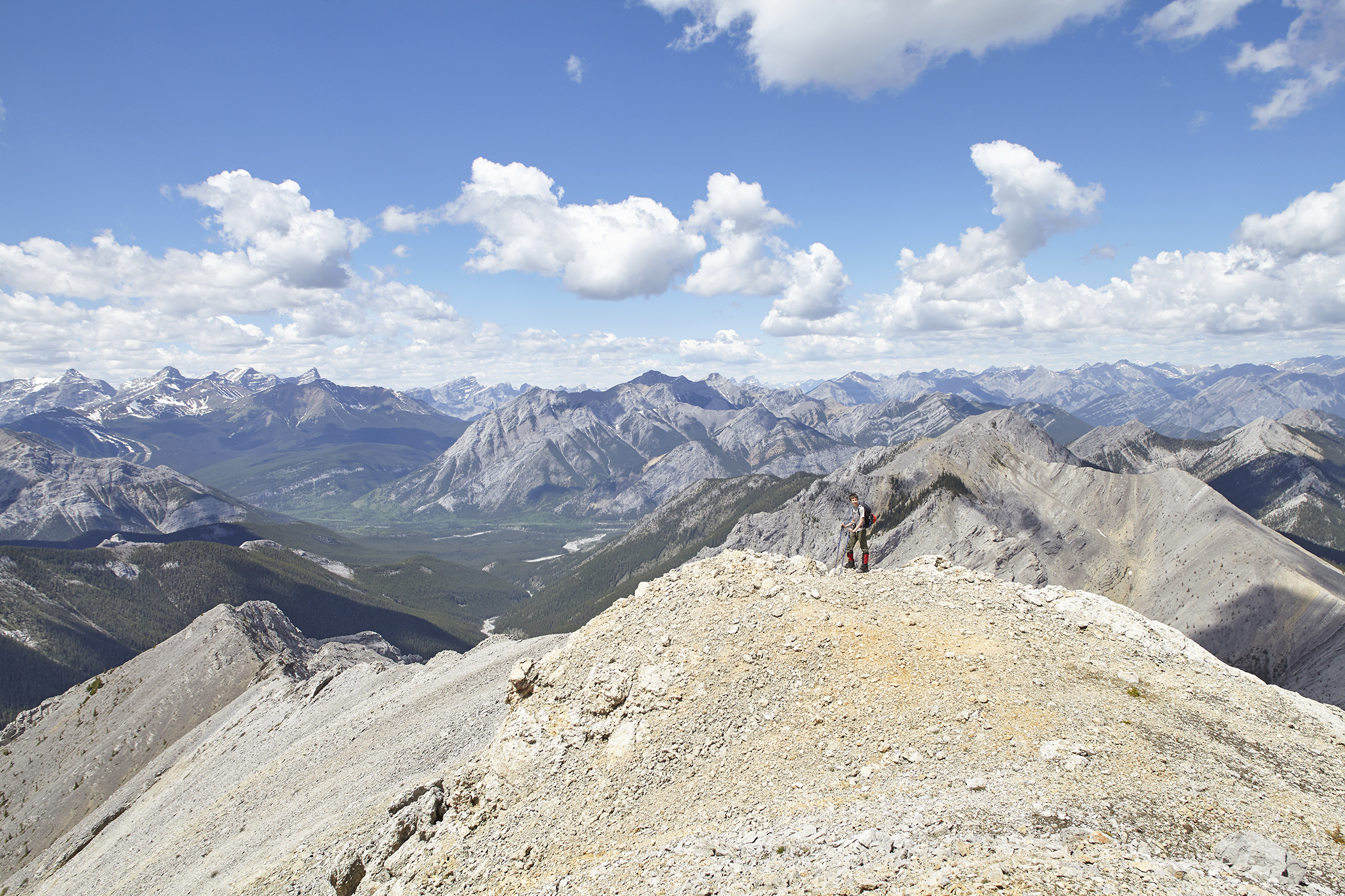The view towards Midday Peak and the Kananaskis Valley