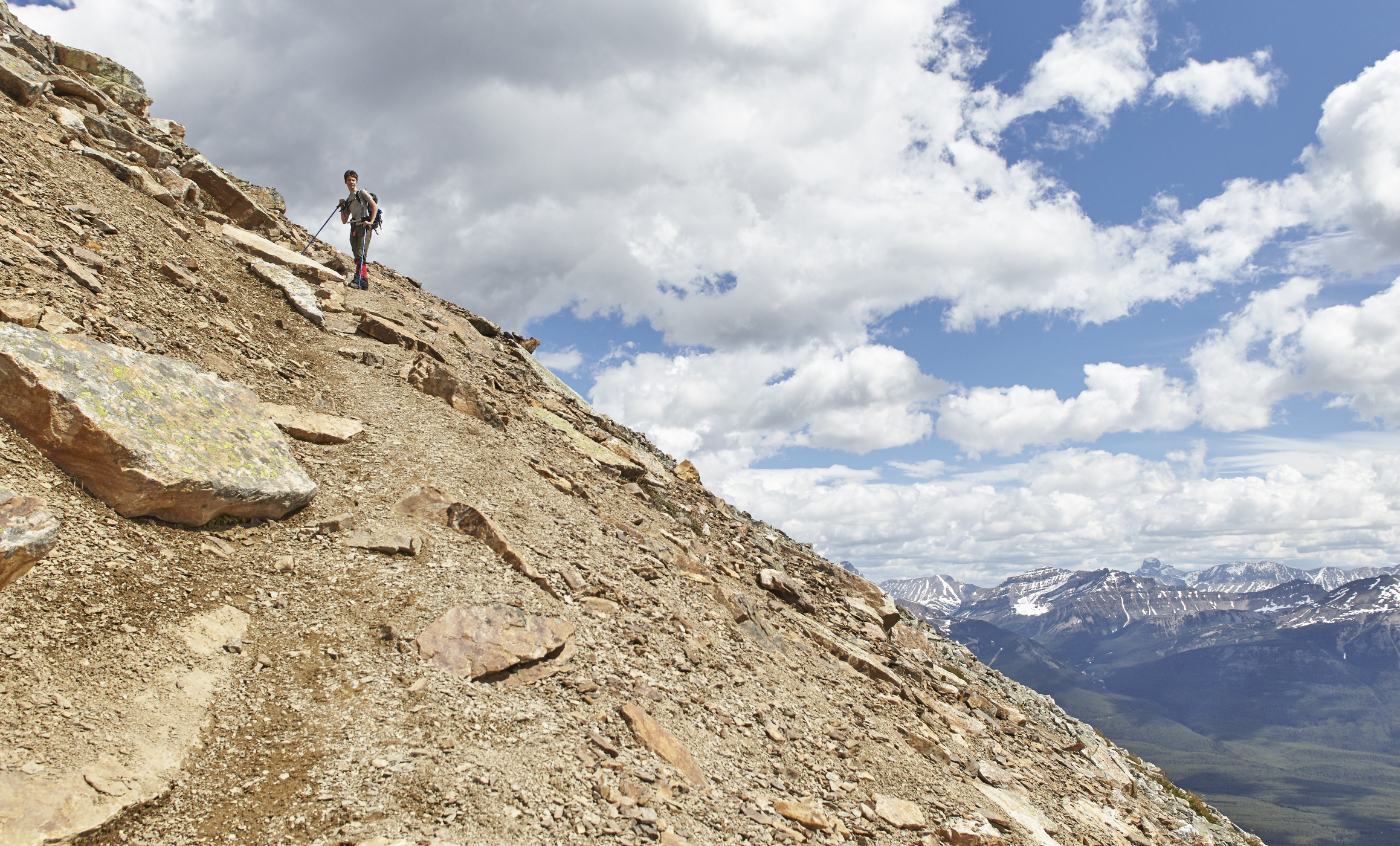 The sea of scree that makes up Fairview Mountain.