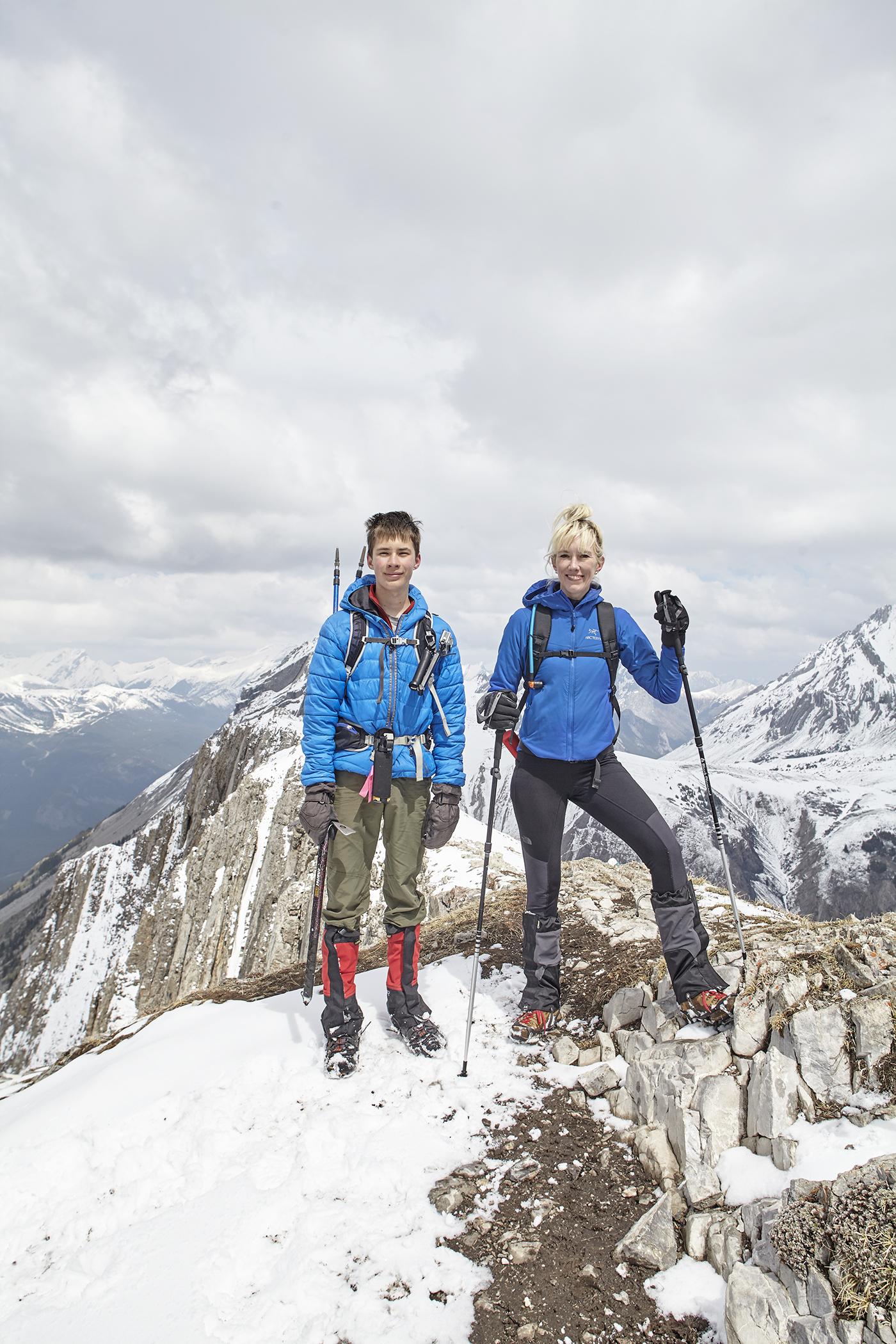 Yuri and Mindy on the summit.