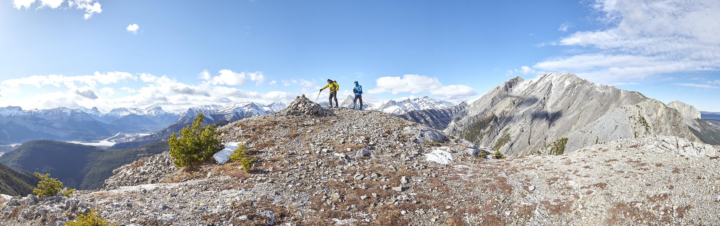 Milan and Yuri on the summit of Loder Peak.