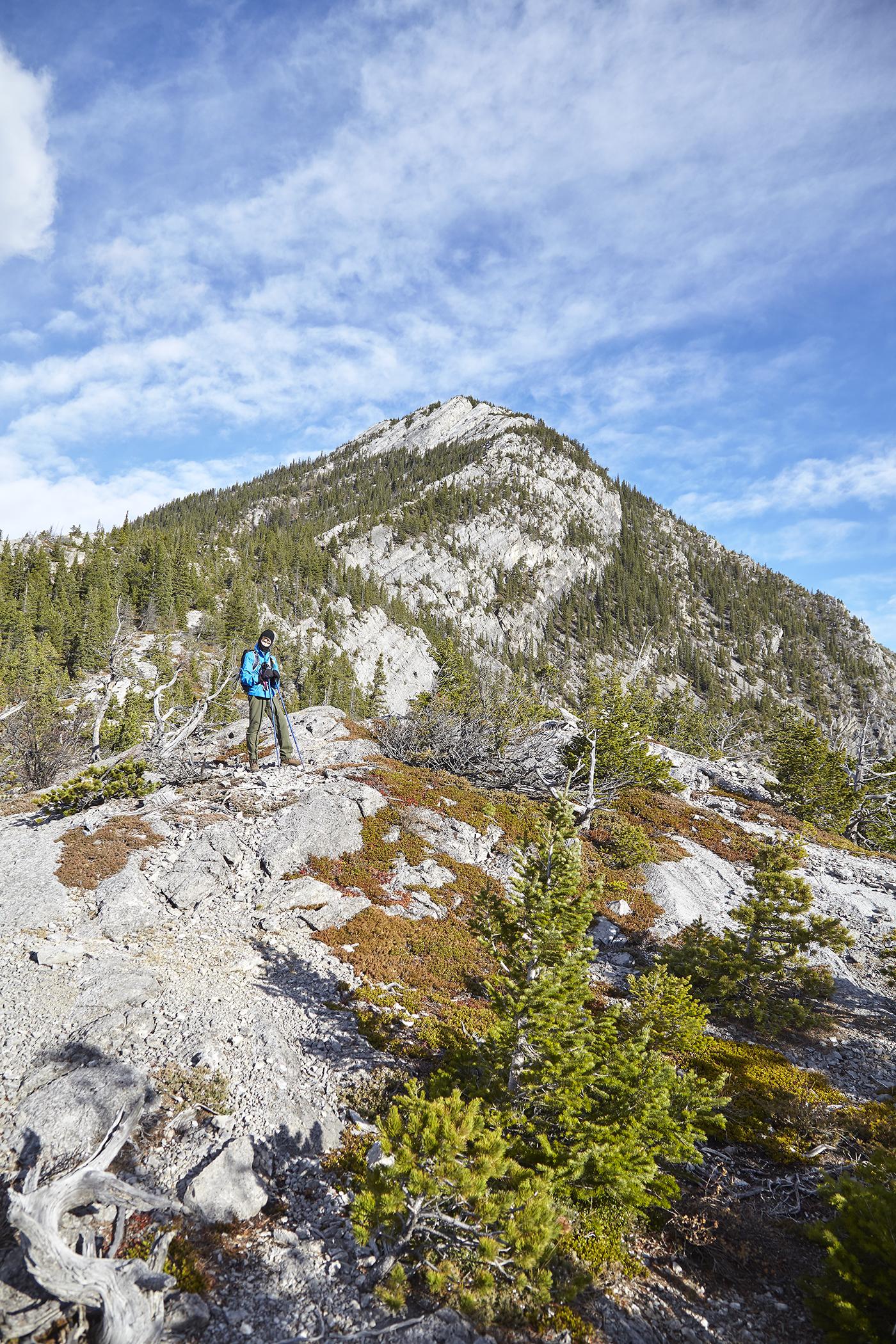 Yuri on the ridge leading up Doorjamb Mountain.