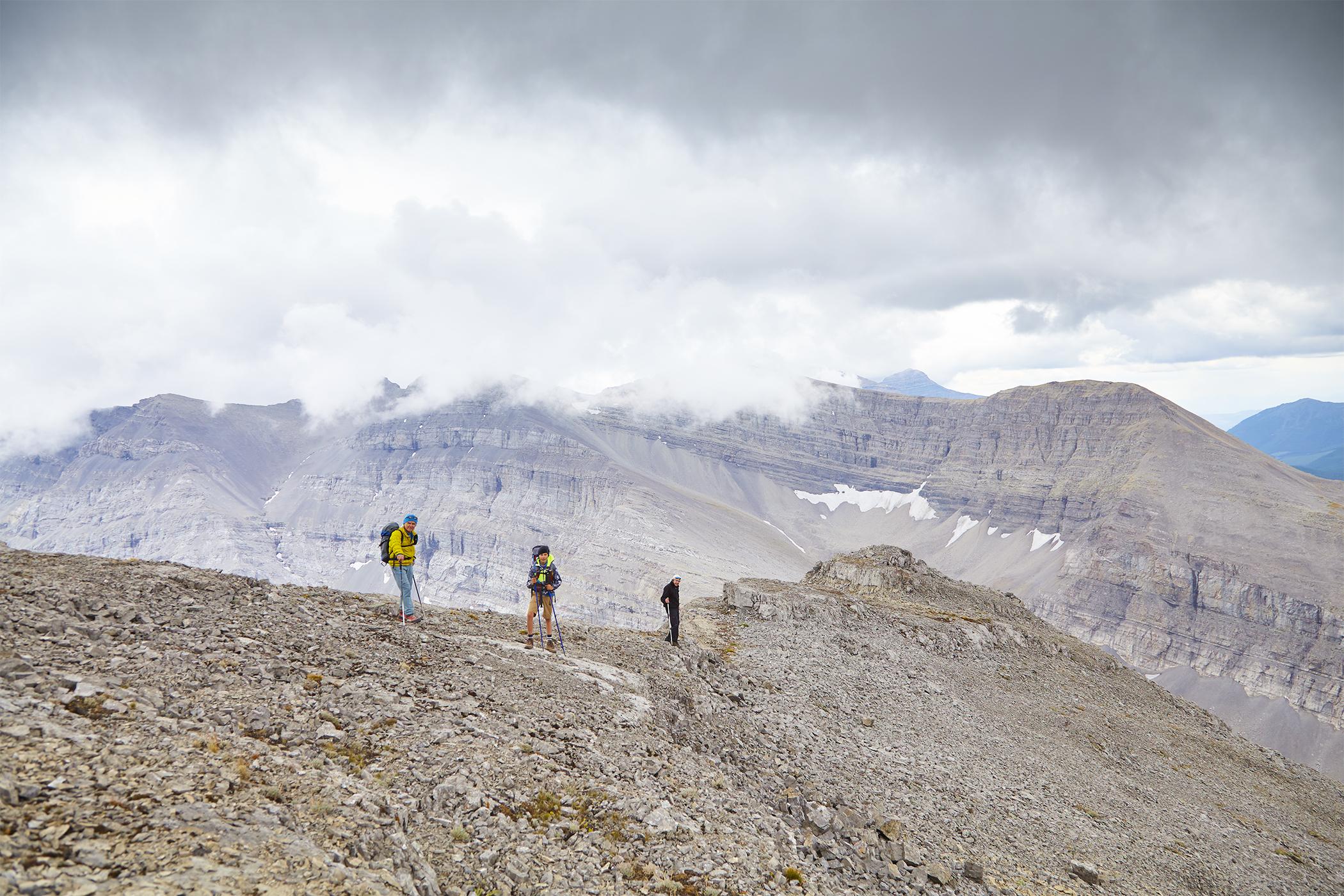 Milan, Yuri , and Wayne on the summit ridge.