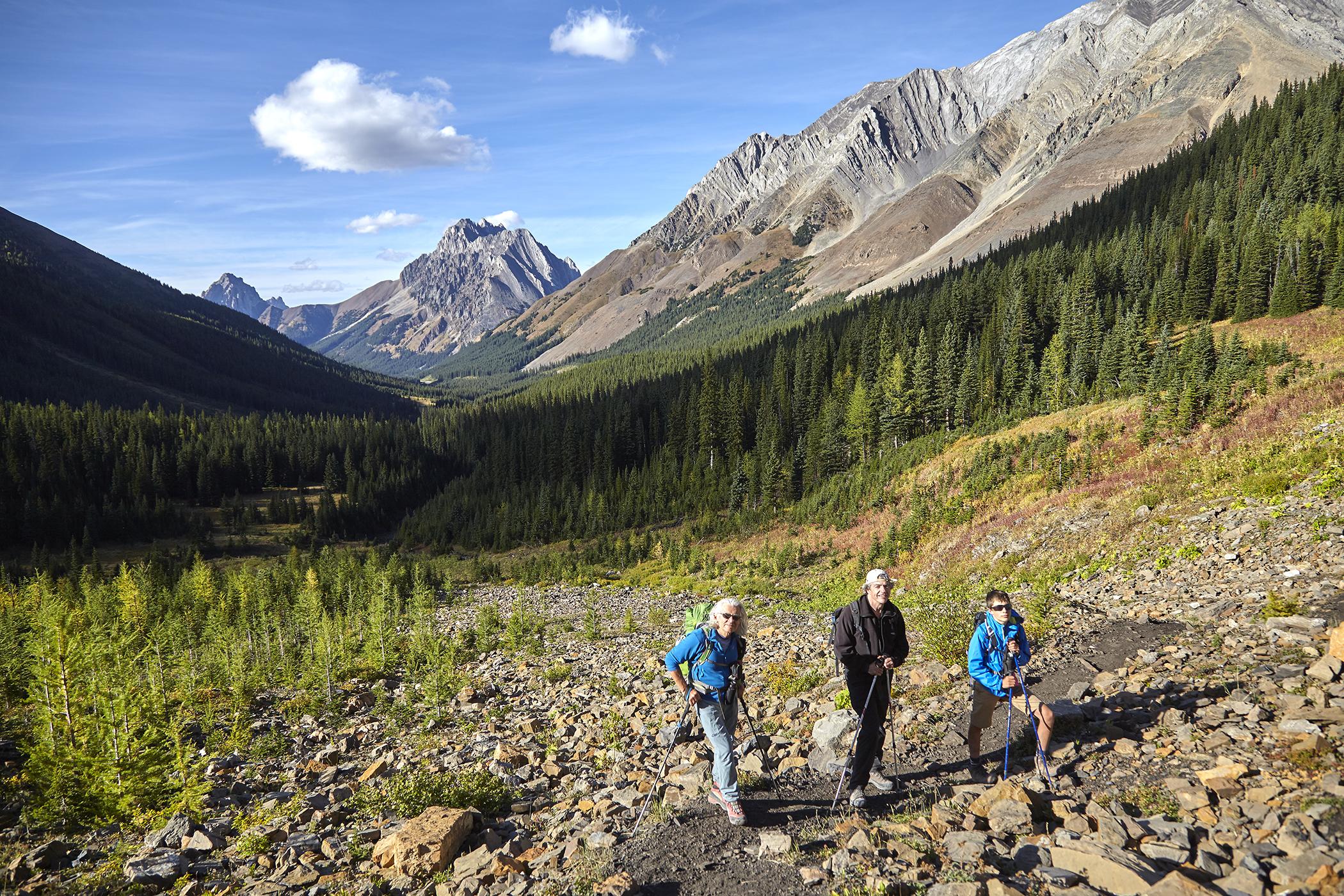 Milan, Wayne and Yuri on the approach to Mount Tyrwhitt.