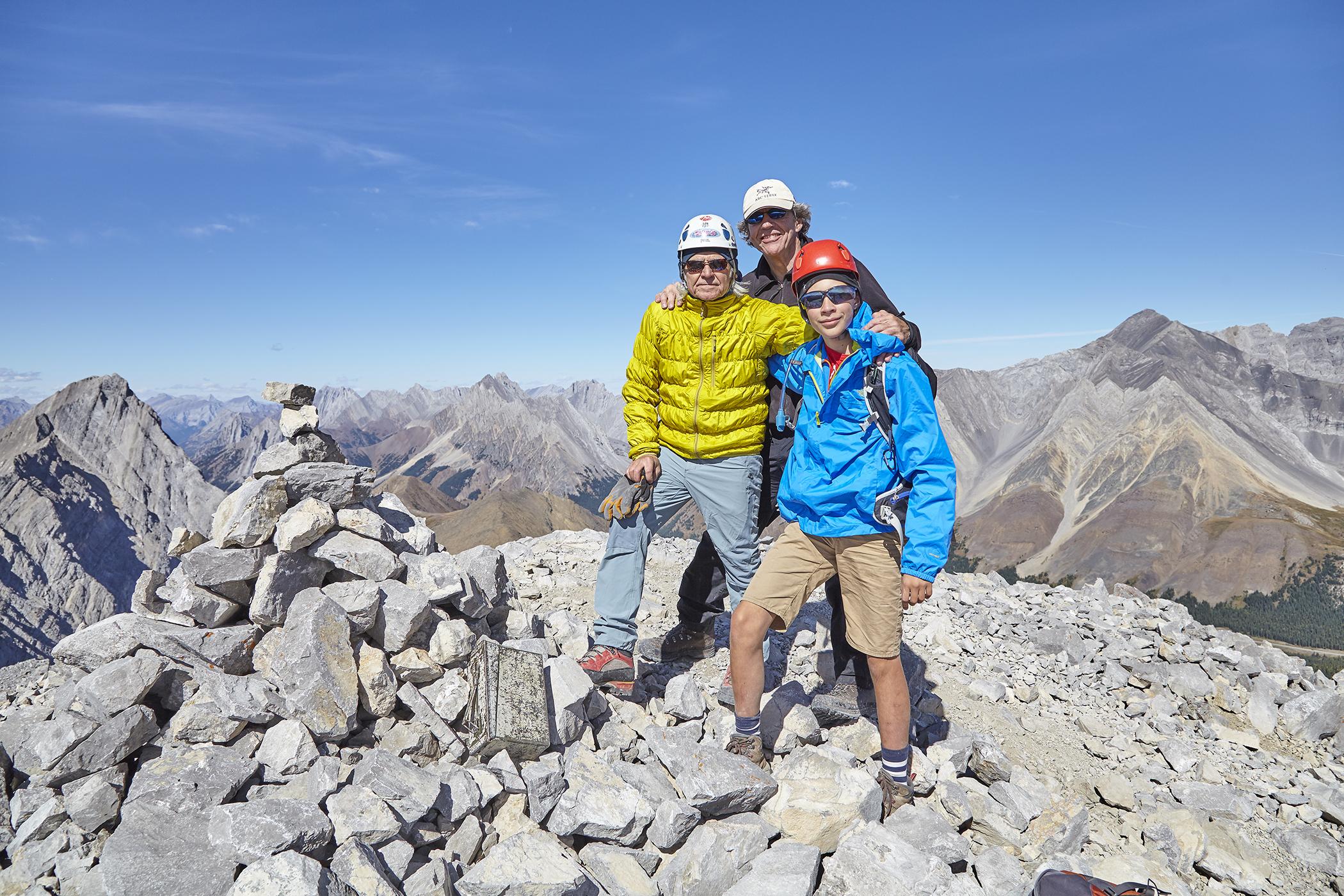 Milan, Wayne, and Yuri on the summit.