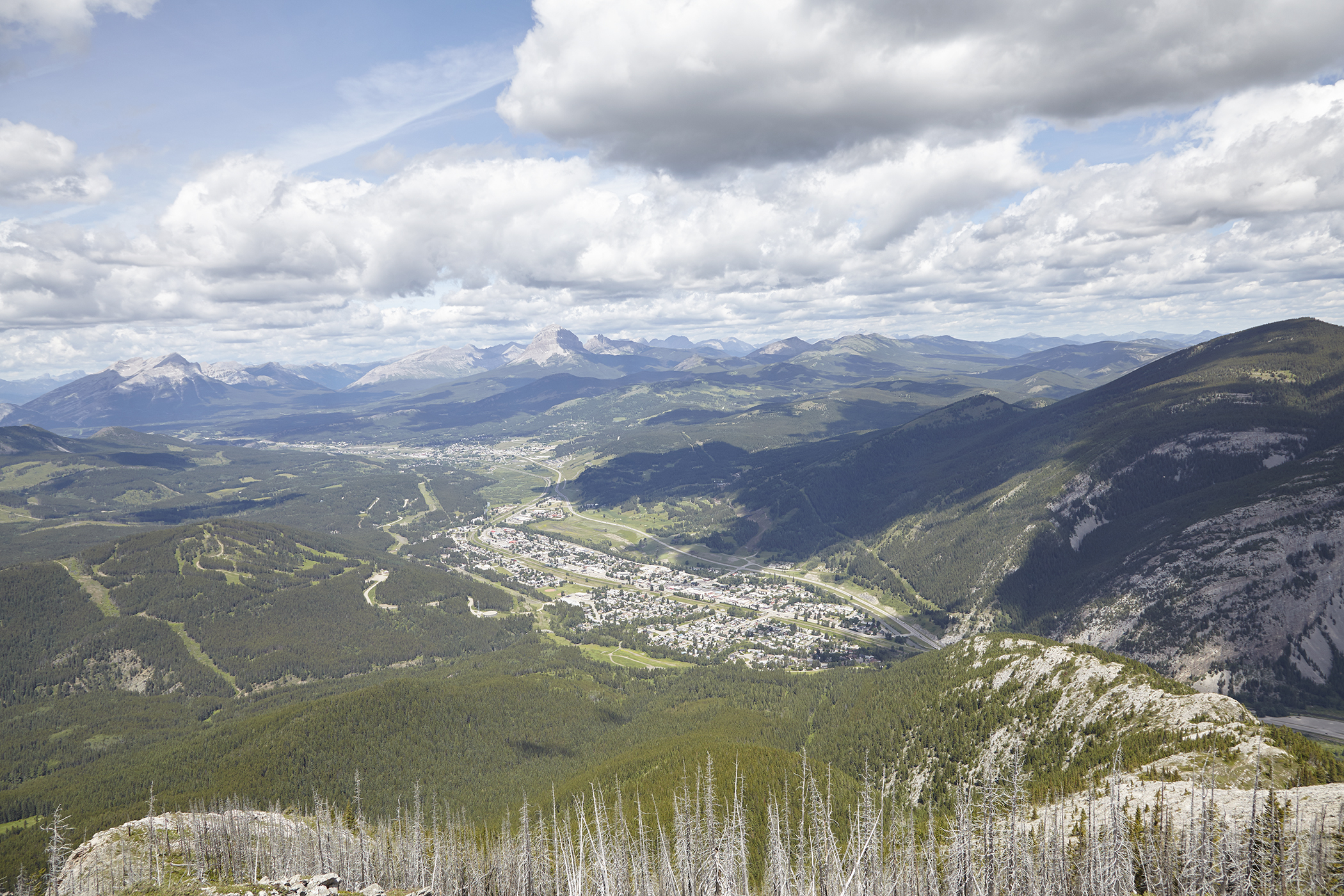 Looking towards Blairemore, Coleman and Crowsnest Mountain from near the summit.