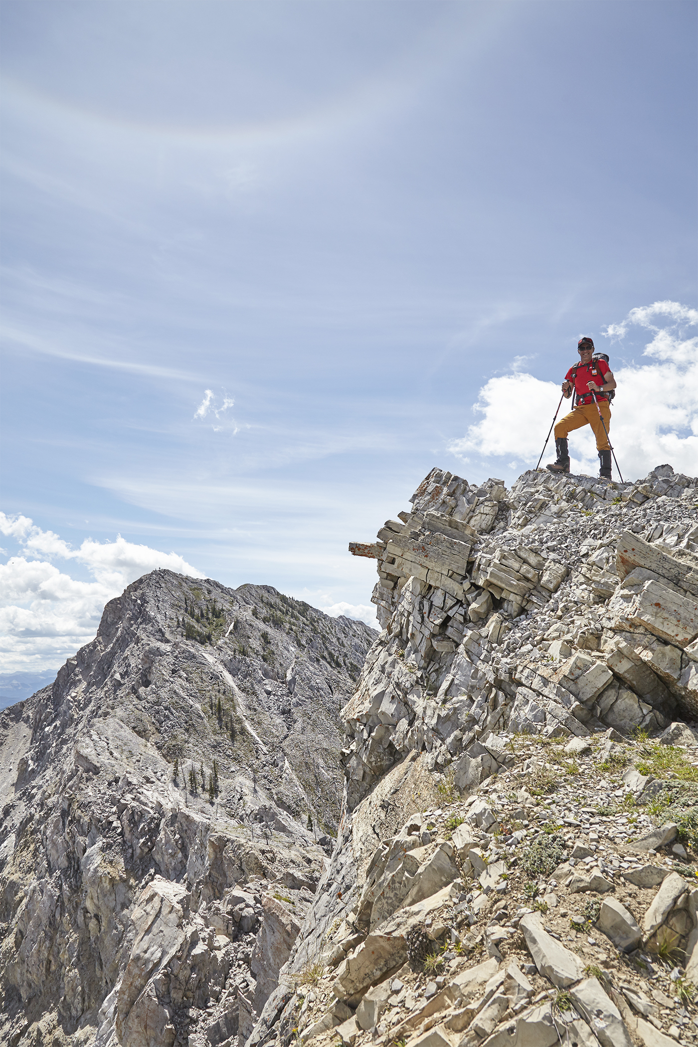 Me on the summit. The peak beyond is Turtle Mountain South, the true summit.