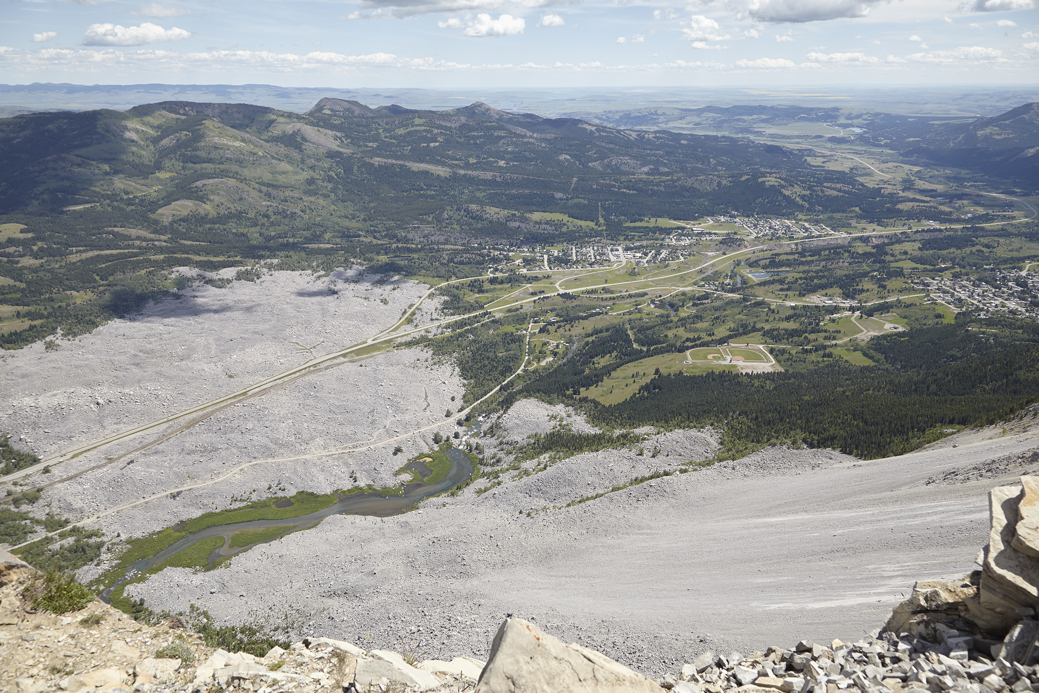 A bird's eye view of the infamous Frank Slide.