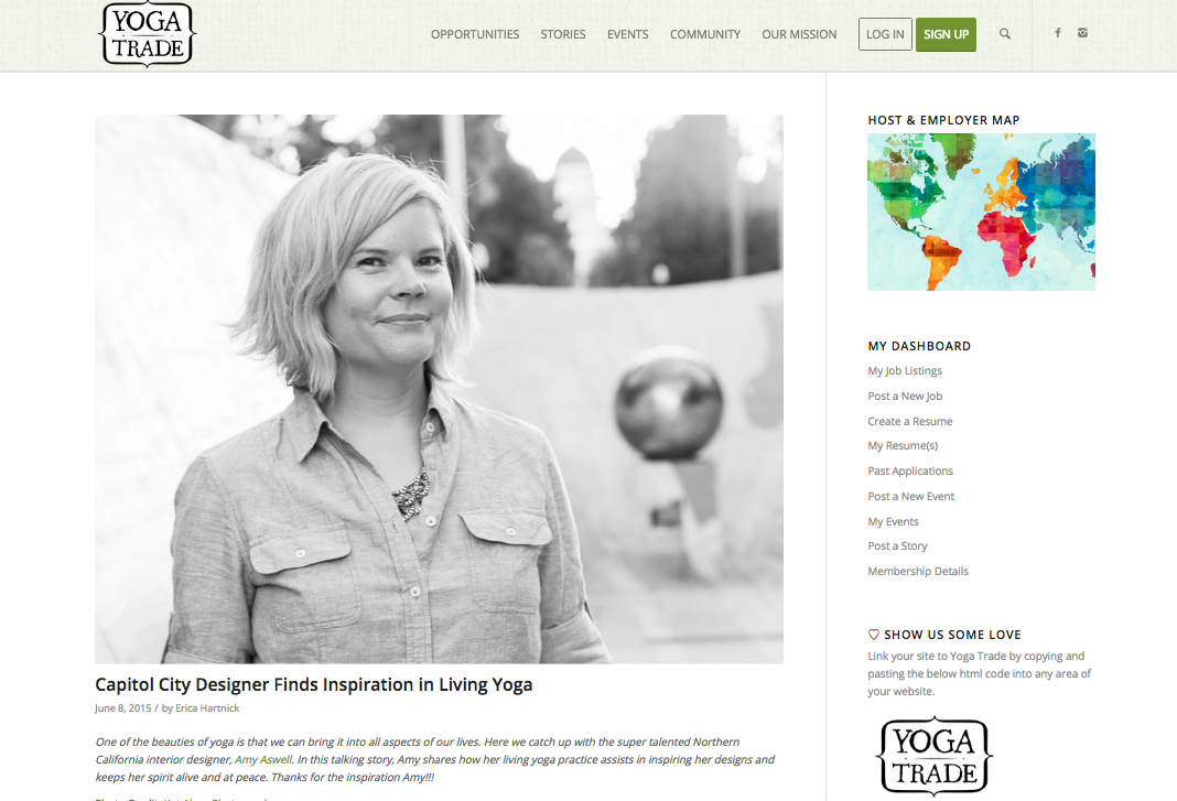 Capitol City Designer Finds Inspiration in Living Yoga
