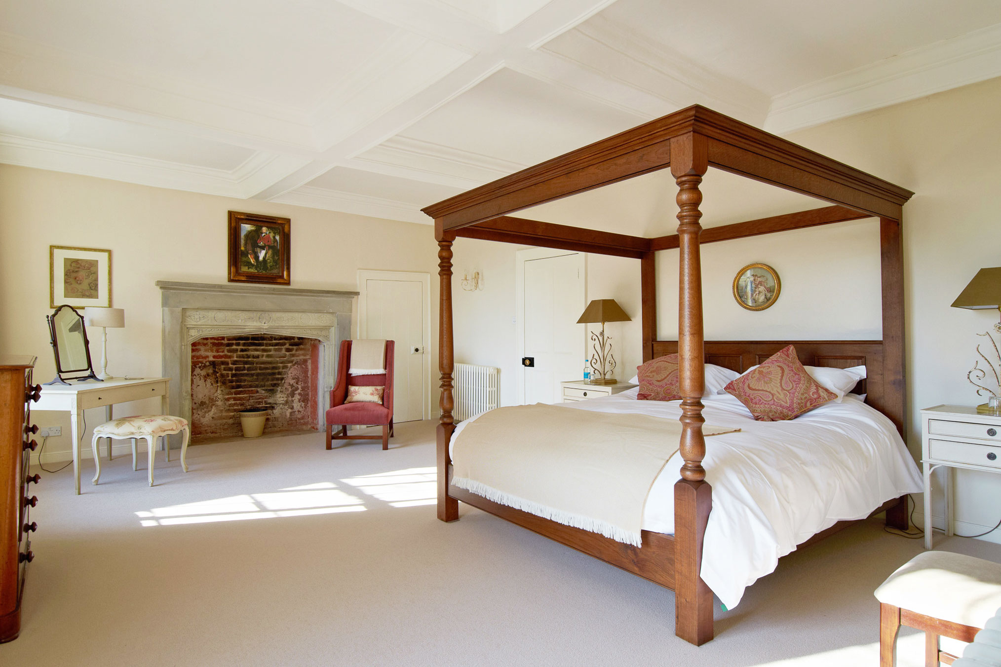 Enjoy twelve sumptuous  Bedrooms    Enquire about staying with us